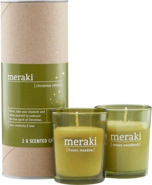 På billedet ser du variationen Duftlys, Christmas edition fra brandet Meraki i en størrelse Ø: 5,5 cm. H: 67 cm. i farven Grøn