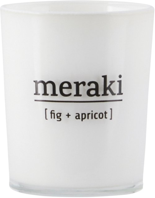 På billedet ser du variationen Duftlys, Fig fra brandet Meraki i en størrelse Ø: 5,5 cm. H: 6,7 cm. i farven Hvid