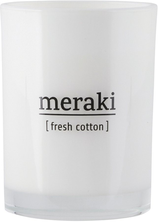 Image of   Duftlys, Fresh Cotton by Meraki (Ø: 8 cm. H: 10,5 cm., Hvid)