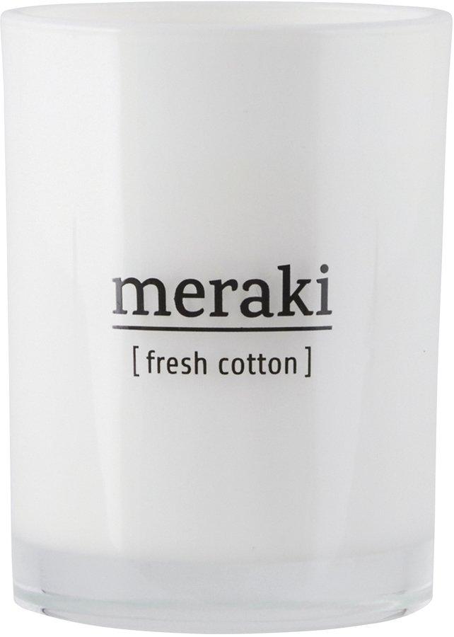 Image of   Duftlys, Fresh Cotton by Meraki (Ø: 8 cm. H: 10,5 cm., Hvid)