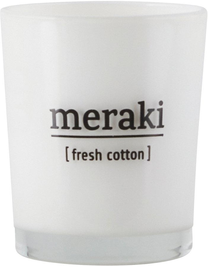 Image of   Duftlys, Fresh Cotton by Meraki (Ø: 5,5 cm. H: 6,7 cm., Hvid)