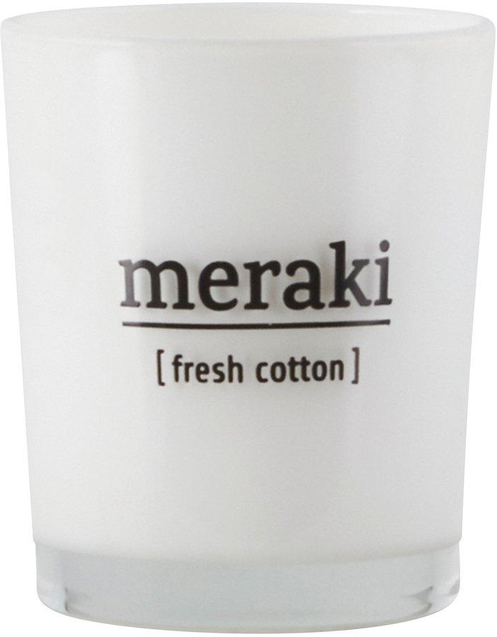 Image of   Duftlys, Fresh Cotton by Meraki (Ø: 5,5 cm. H: 6,7 cm., Hvid)