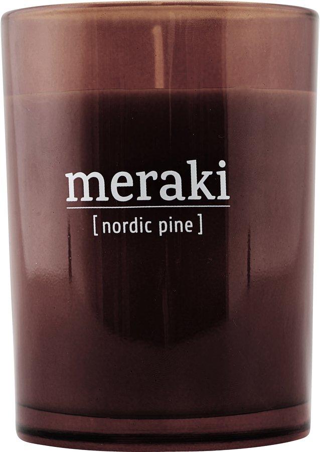 Image of   Duftlys, Nordic Pine by Meraki (Ø: 8 cm. H: 10,5 cm., Brændt henna)