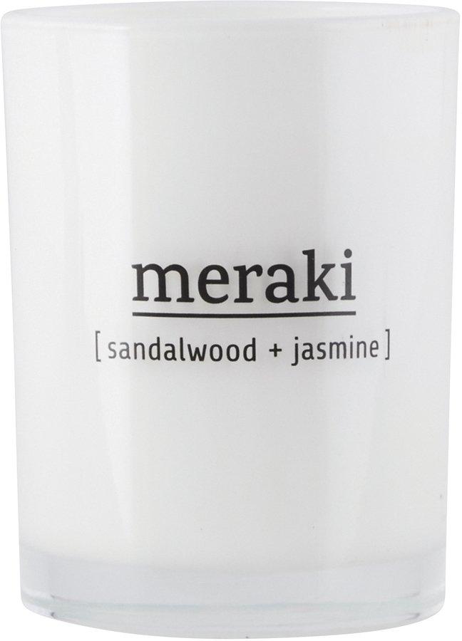 Image of   Duftlys, Sandalwood & Jasmine by Meraki (Ø: 8 cm. H: 10,5 cm., Hvid)