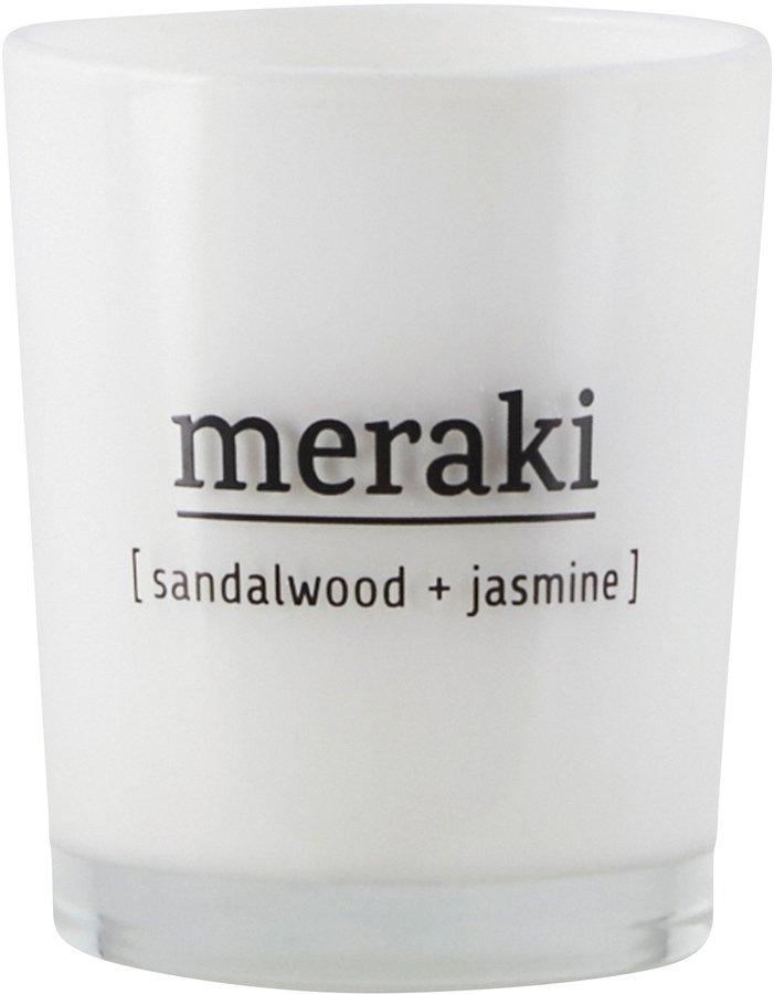 Image of   Duftlys, Sandalwood & Jasmine by Meraki (Ø: 5,5 cm. H: 6,7 cm., Hvid)