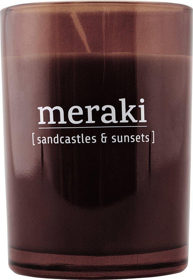 Image of   Duftlys, Sandcastles & Sunsets by Meraki (Ø: 8 cm. H: 10,5 cm., Brændt henna)