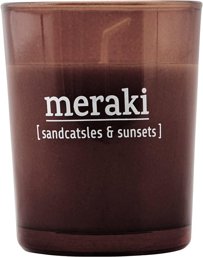Image of   Duftlys, Sandcastles & Sunsets by Meraki (Ø: 55 cm. H: 6,7 cm., Brændt henna)