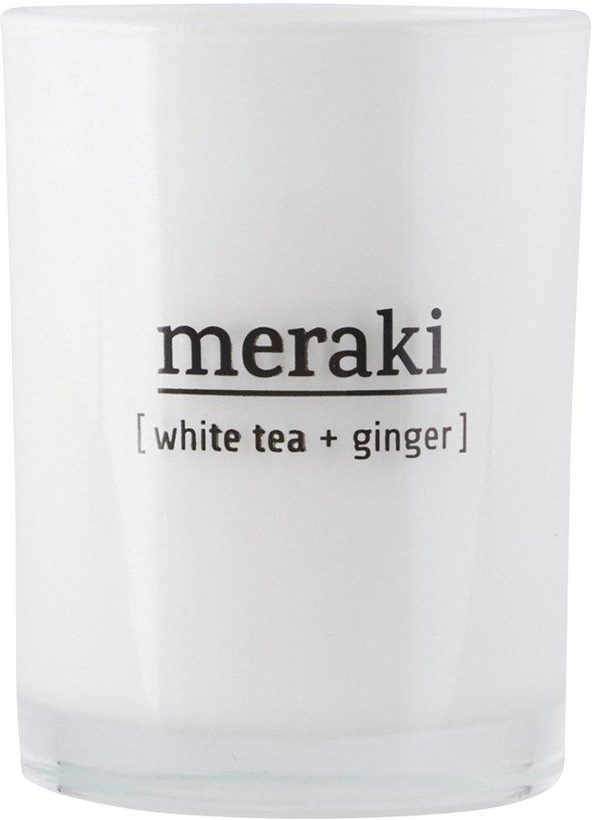 Image of   Duftlys, White tea & Ginger by Meraki (Ø: 8 cm. H: 10,5 cm., Hvid)