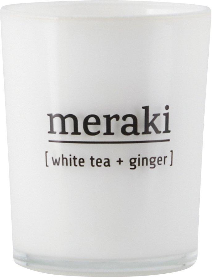 Image of   Duftlys, White tea & Ginger by Meraki (Ø: 5,5 cm. H: 6,7 cm., Hvid)