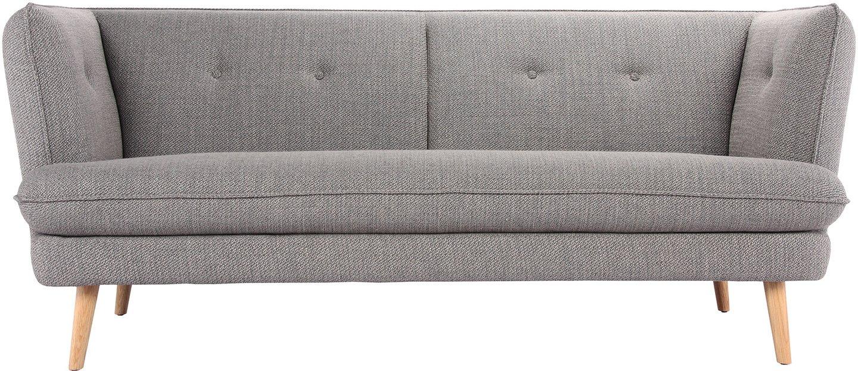 Elliot, 3-personers sofa, Polyester by Bloomingville (H: 81 cm. B: 91 cm. L: 195 cm., Grå)