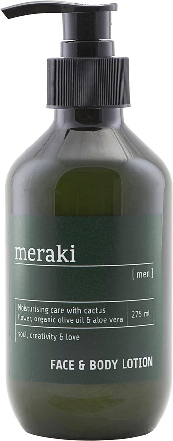 På billedet ser du Face & body lotion, Men fra brandet Meraki i en størrelse 275 ML. i farven Sort