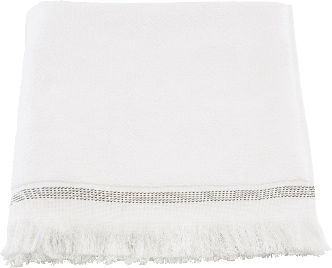 Image of   Håndklæde, Hvid med grå striber by Meraki (B: 70 cm. L: 140 cm., Hvid)