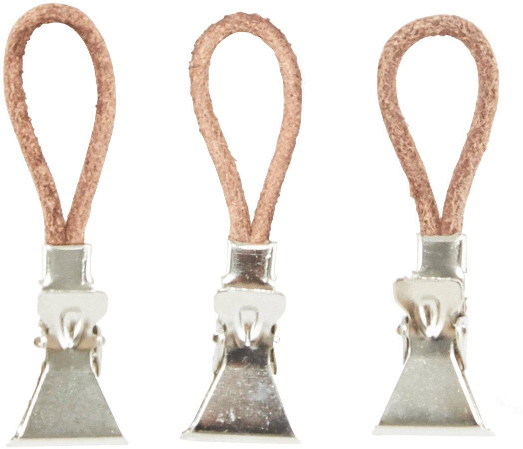 Billede af Håndklædeclips, læder by Meraki (10 Stk./Pk., Sølv)