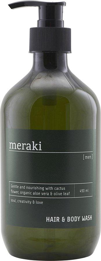 På billedet ser du variationen Hair & body wash, Men fra brandet Meraki i en størrelse 490 ML./16.5 FL.OZ i farven Sort