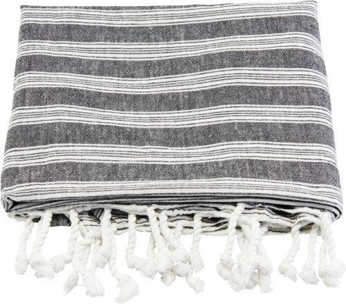 På billedet ser du variationen Håndklæde, Hammam fra brandet Meraki i en størrelse B: 100 cm. L: 180 cm. i farven Hvid/Grå