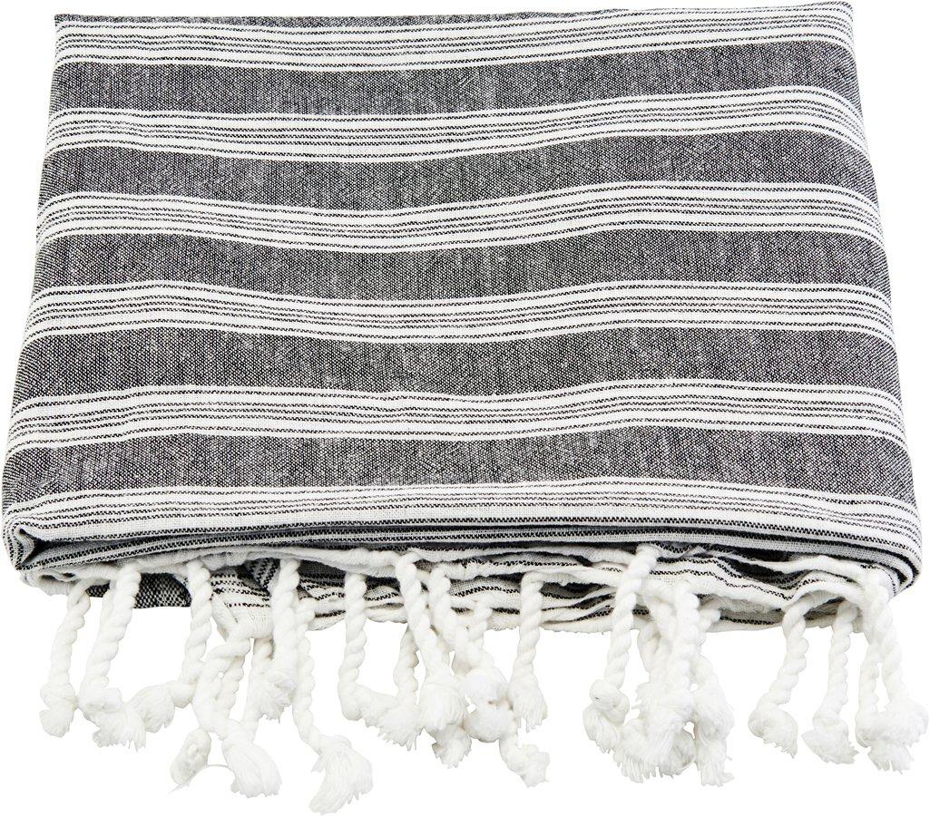 Håndklæde, Hammam by Meraki (B: 100 cm. L: 180 cm., Hvid/Grå)