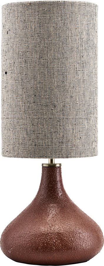På billedet ser du variationen Lampe, Base diya fra brandet House Doctor i en størrelse D: 26 cm. x H: 34 cm. i farven Brændt henna