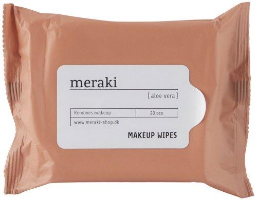 På billedet ser du variationen Makeup-fjerner servietter, aloe vera fra brandet Meraki i en størrelse 20 STK./PKG. i farven Hvid