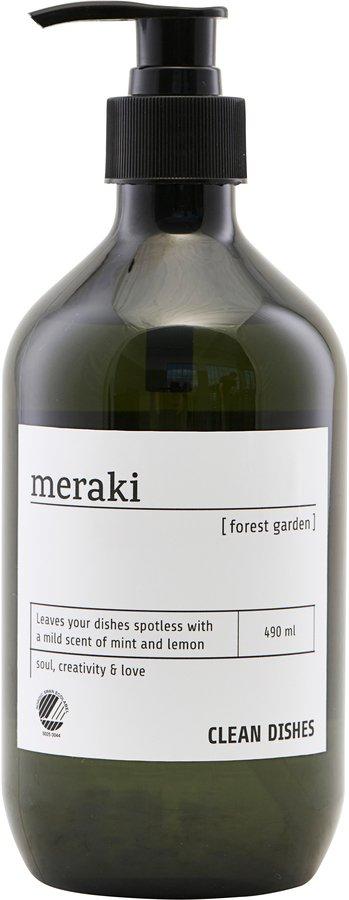 På billedet ser du variationen Opvaskemiddel, Forest garden fra brandet Meraki i en størrelse Ø: 7 cm. H: 19 cm. i farven Sort