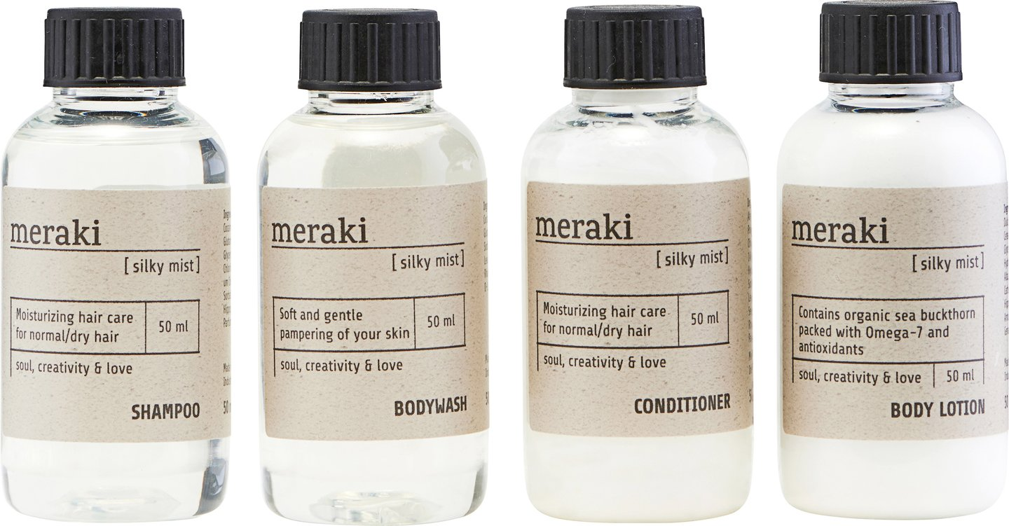 Image of   Rejse-kit, Shampoo by Meraki (4 X 50 ML., Transparent)