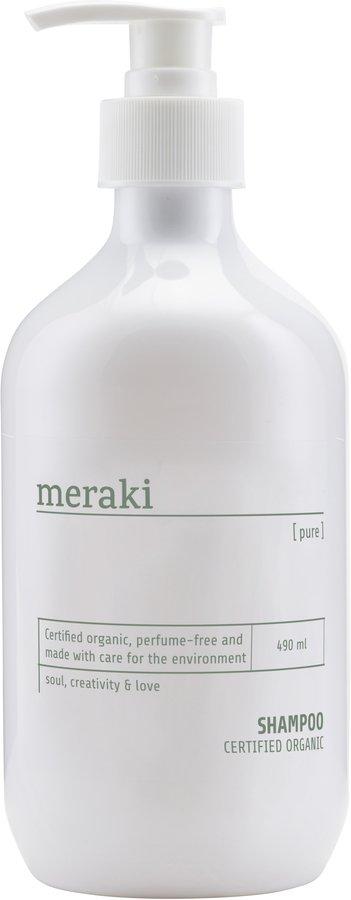 På billedet ser du variationen Shampoo, Pure fra brandet Meraki i en størrelse 490 ML. i farven Hvid