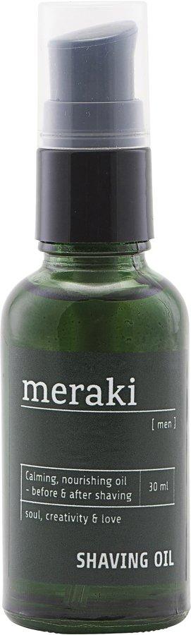 På billedet ser du variationen Shaving oil, Men fra brandet Meraki i en størrelse 30 ML. i farven Sort