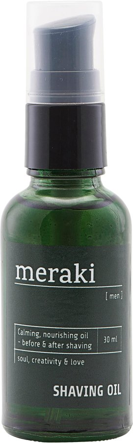 Image of   Shaving oil, Men by Meraki (30 ML., Sort)