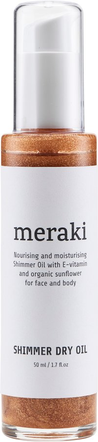 Image of   Shimmer dry oil, 50 ml. by Meraki (50 ML., Hvid)