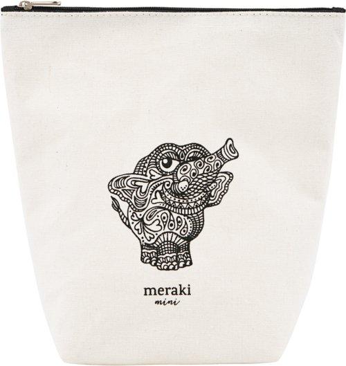 På billedet ser du variationen Toilettaske, Doddy fra brandet Meraki i en størrelse H: 14,5 cm. B: 6,5 cm. L: 21 cm. i farven Hvid