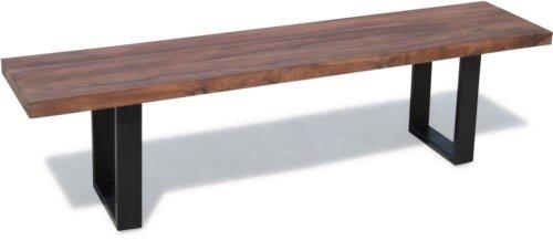 På billedet ser du variationen Bænk, HayFay fra brandet OBUZI i en størrelse H: 45 cm. B: 180 cm. L: 40 cm. i farven Mørk Natur/Sort