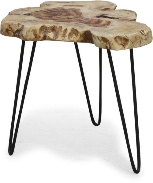 På billedet ser du variationen Edge naturtræsbord, BlackSea fra brandet OBUZI i en størrelse D: 50 cm. H: 45 cm. i farven Natur