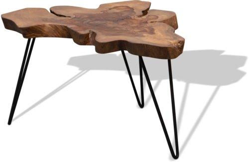 På billedet ser du Sofabord, Edge, Beast fra brandet OBUZI i en størrelse D: 85 cm. H: 45 cm. i farven Mat Brun
