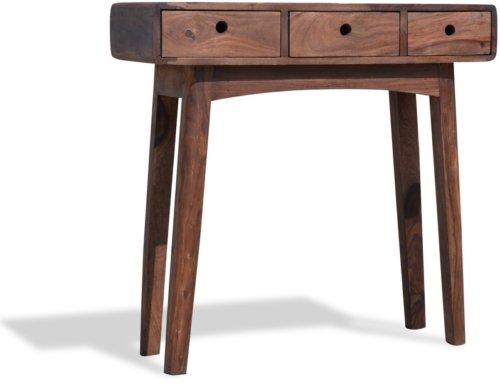 På billedet ser du variationen Konsolbord, Stuka fra brandet OBUZI i en størrelse H: 80 cm. B: 80 cm. L: 30 cm. i farven Mørk Natur