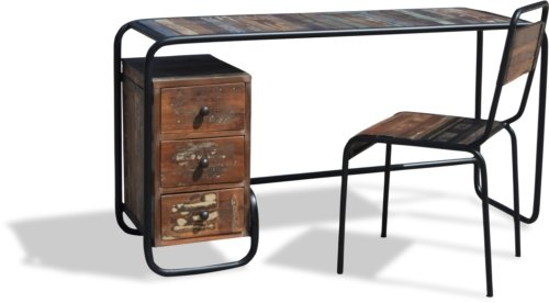 På billedet ser du Skrivebord, Christiania Hip fra brandet OBUZI i en størrelse H: 74 cm. B: 140 cm. L: 45 cm. i farven Multi