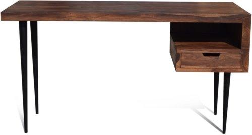 På billedet ser du variationen Skrivebord, HayFay, Rosentræ fra brandet OBUZI i en størrelse H: 74 cm. B: 140 cm. L: 50 cm. i farven Mørk Natur/Sort