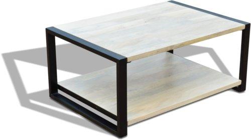 På billedet ser du variationen Sofabord, Manga, Ydrestel, HayFay fra brandet OBUZI i en størrelse H: 45 cm. B: 70 cm. L: 100 cm. i farven Hvid/Sort