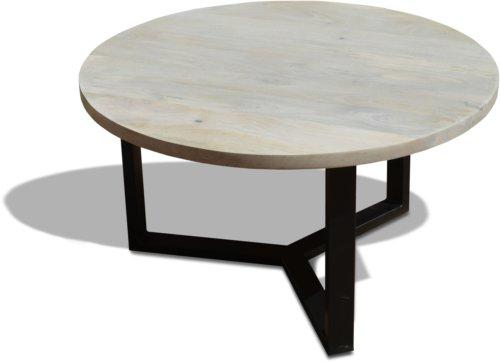 På billedet ser du Sofabord, Manga Round, HayFay fra brandet OBUZI i en størrelse D: 80 cm. H: 45 cm. i farven Hvid/Sort