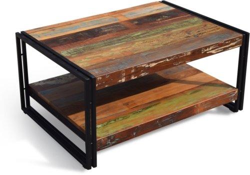 På billedet ser du variationen Sofabord, Stuka fra brandet OBUZI i en størrelse H: 45 cm. B: 100 cm. L: 60 cm. i farven Mørk Natur