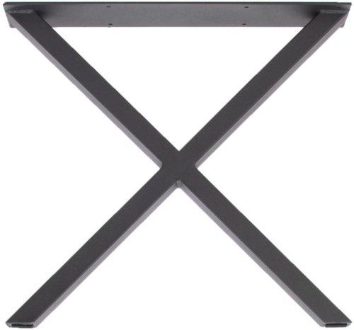 På billedet ser du variationen Stel til sofabord, X, bordben fra brandet Preform i en størrelse H: 46 cm. B: 50 cm. L: 6 cm. i farven Sort