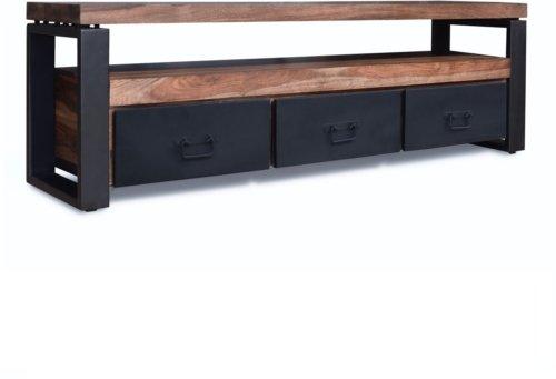 På billedet ser du variationen Tv-bord, HayFay-Rex fra brandet OBUZI i en størrelse H: 50 cm. B: 155 cm. L: 40 cm. i farven Mørk Natur/Sort