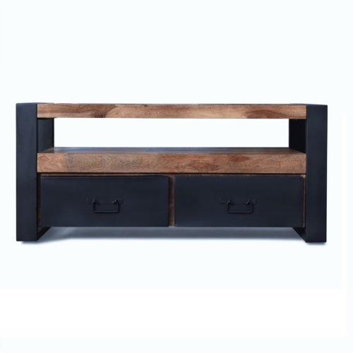 På billedet ser du variationen Tv-bord, HayFay fra brandet OBUZI i en størrelse H: 50 cm. B: 110 cm. L: 40 cm. i farven Mørk Natur/Sort