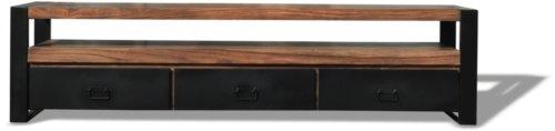 På billedet ser du variationen Tv-bord, HayFay fra brandet OBUZI i en størrelse H: 50 cm. B: 200 cm. L: 40 cm. i farven Mørk Natur/Sort