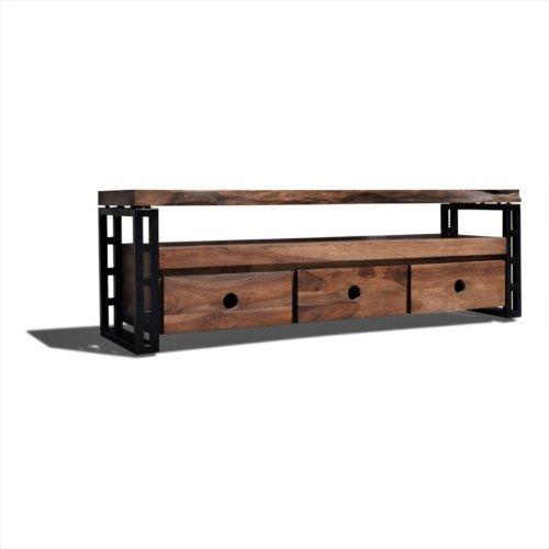 På billedet ser du variationen Tv-bord, Steel The Beast, R5 fra brandet OBUZI i en størrelse H: 50 cm. B: 155 cm. L: 40 cm. i farven Mørk Natur/Sort