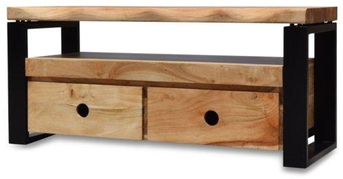 På billedet ser du variationen Tv-bord, Stuka fra brandet OBUZI i en størrelse H: 45 cm. B: 110 cm. L: 40 cm. i farven Mørk Natur