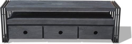 På billedet ser du Tv-bord HayFay-Rail, Model R1, Yderstel fra brandet OBUZI i en størrelse H: 50 cm. B: 40 cm. L: 155 cm. i farven Mat Sort