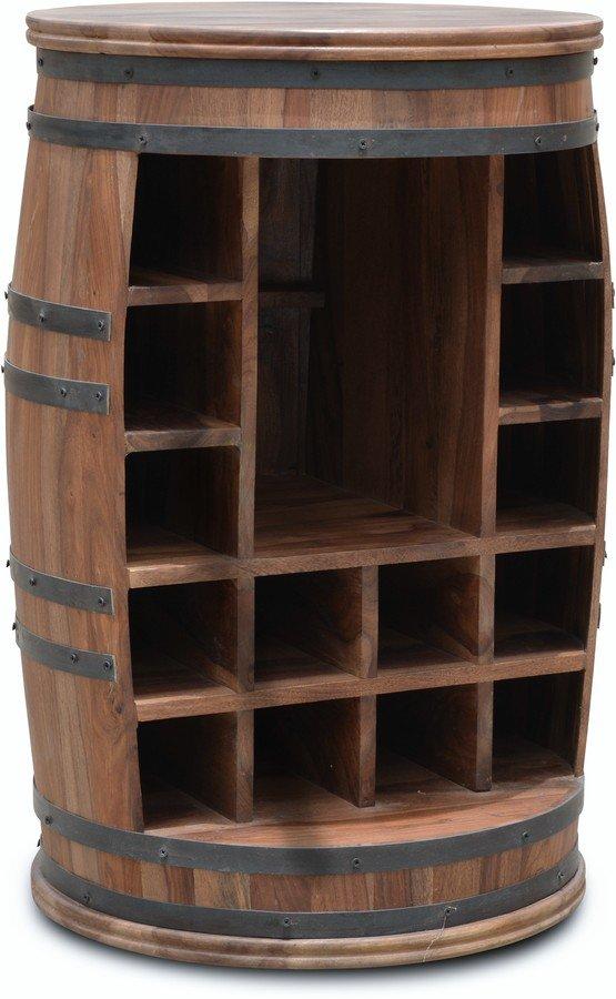 Billede af Vintønde barskab, Rosey-Jo by OBUZI (D: 55 cm. H: 80 cm., Mørk Natur/Sort)