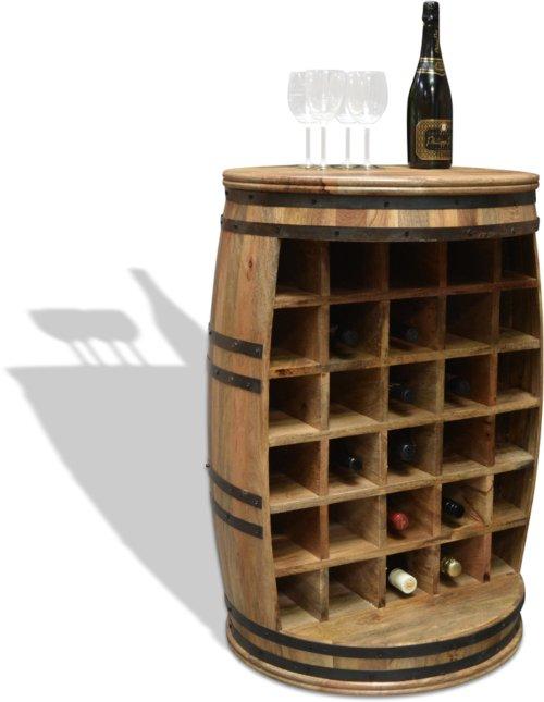 På billedet ser du Vintønde barskab, Rosey-O Raw fra brandet OBUZI i en størrelse D: 65 cm. H: 90 cm. i farven Natur/Sort