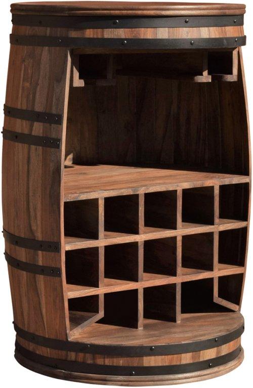 På billedet ser du Vintønde barskab, Rosey fra brandet OBUZI i en størrelse D: 65 cm. H: 90 cm. i farven Mørk Natur/Sort
