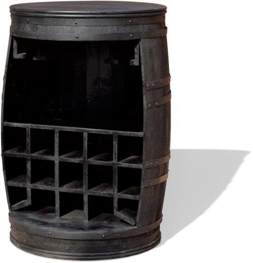 På billedet ser du Vintønde barskab, Rosey-Black fra brandet OBUZI i en størrelse D: 65 cm. H: 90 cm. B: 65 cm. L: 65 cm. i farven Sort