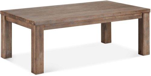 På billedet ser du variationen Boston, Sofabord, Akaciatræ fra brandet Raymond & Hallmark i en størrelse H: 52 cm. B: 80 cm. L: 140 cm. i farven Brun